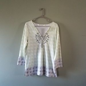 Athleta cotton embroidered tunic